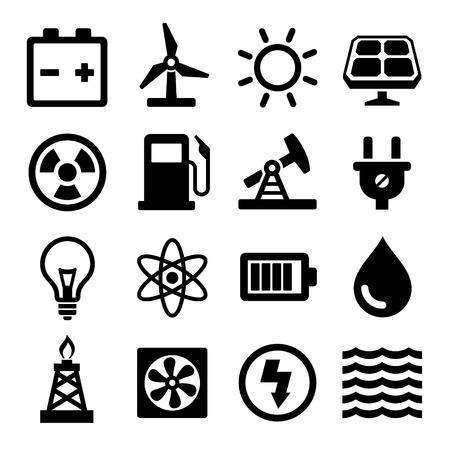 Ilustración de Energy Icons Set - Imagen libre de derechos