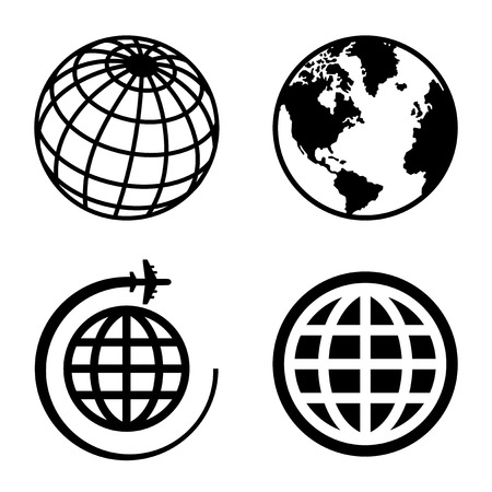Illustration pour Earth Globe Icons Set. - image libre de droit