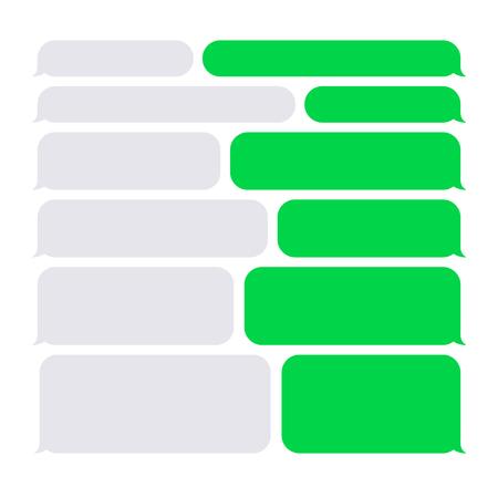 Ilustración de Smartphone SMS Chat Bubbles on White. Vector illustration - Imagen libre de derechos