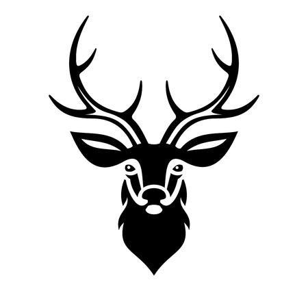 Illustration pour Deer Head on White Background. Vector illustration - image libre de droit