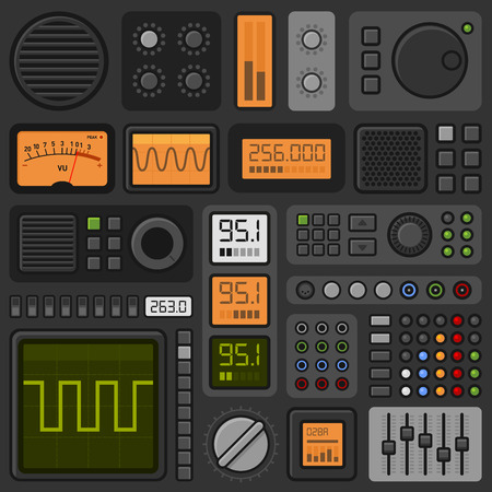 Illustration pour Control Panel UI User Interface HUD Set. Vector illustration - image libre de droit
