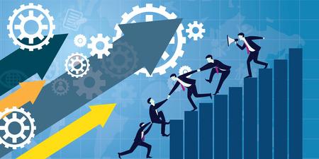 Illustration pour Business teamwork concept - image libre de droit
