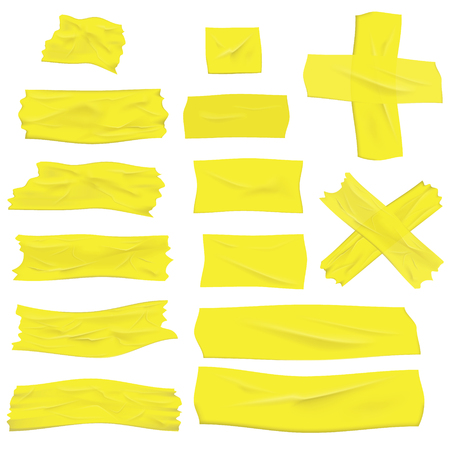 Illustration pour Illustration of realistic greenish yellow masking tape isolated on white - image libre de droit