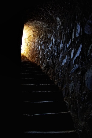 light at end of tunnel in portuguese castle