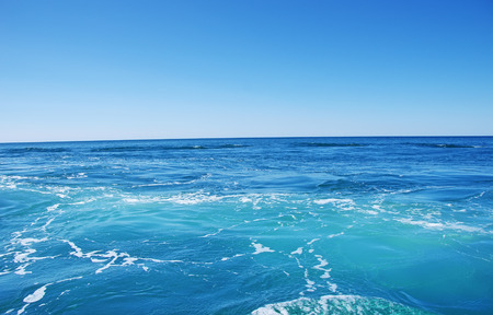 Photo for Blue sea and blue sky  background - Royalty Free Image