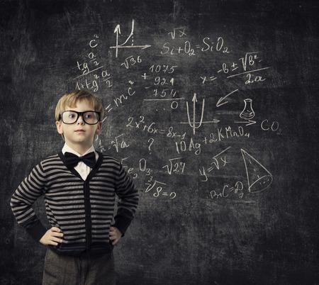 Foto de Child Learning Mathematics, Children Education, Student Kid Learn Math - Imagen libre de derechos