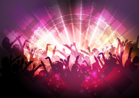 Illustration for Disco Party Background - Vector Illustration - Royalty Free Image