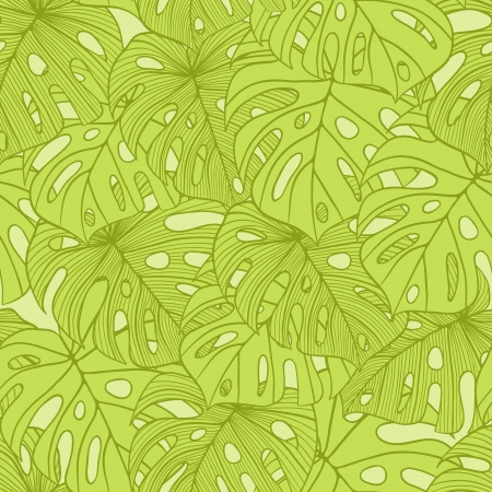Illustration for illustration leaves of palm tree  Seamless pattern  - Royalty Free Image