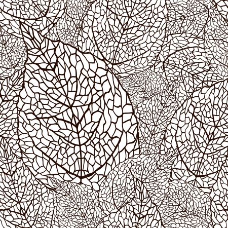 illustration of leaves   Seamless stylish pattern