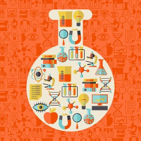 Illustration pour Science concept illustration in shape of tube. - image libre de droit