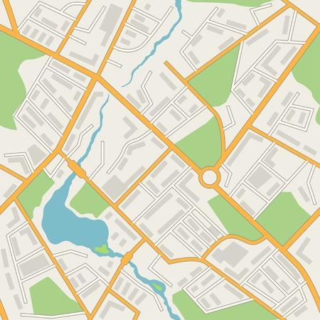 Illustration pour City map abstract seamless pattern - image libre de droit