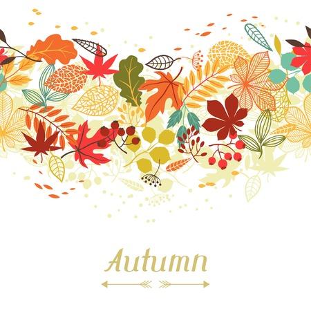 Foto de stylized autumn leaves for greeting cards  - Imagen libre de derechos
