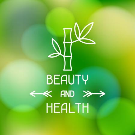 Ilustración de Spa beauty and health label on blurred background - Imagen libre de derechos