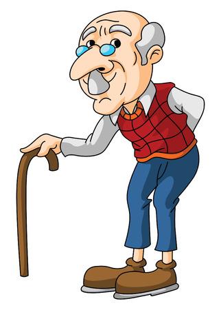 Illustration for Old Man - Royalty Free Image