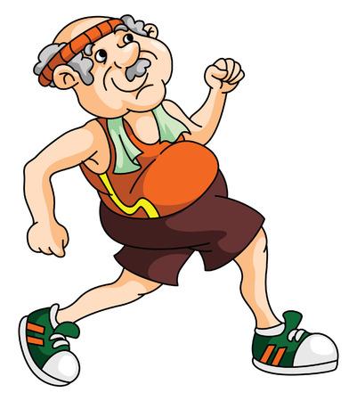Illustration for Old Man Running - Royalty Free Image