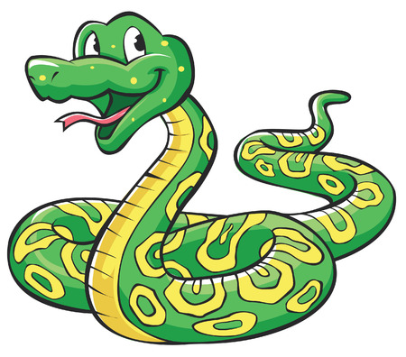 Illustration for Snake Cartoon - Royalty Free Image