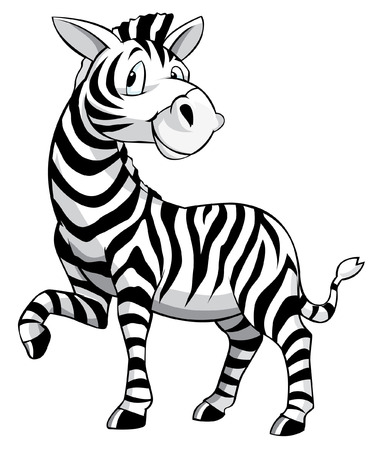 Illustration pour Zebra Cartoon - image libre de droit