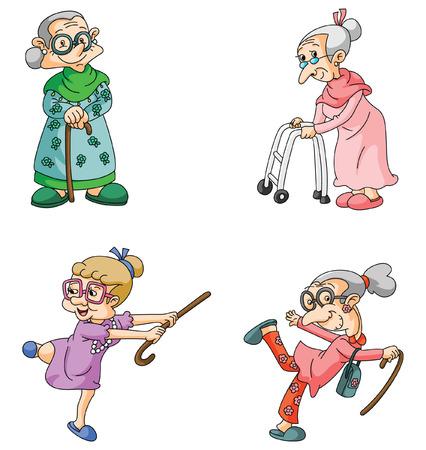 Ilustración de Old Woman - Imagen libre de derechos