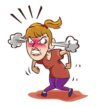 Illustration pour Angry woman - image libre de droit