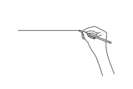 Ilustración de linear hand drawing a straight line - Imagen libre de derechos