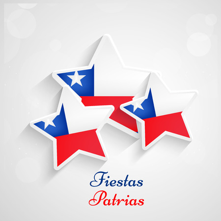 Illustration pour Chile Fiestas Patrias background - image libre de droit