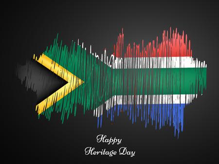 Illustration pour illustration of elements of Heritage Day Background - image libre de droit
