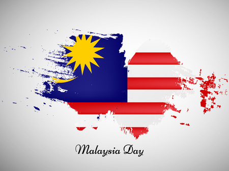 Illustration for illustration of elements of Malaysia Day Background - Royalty Free Image