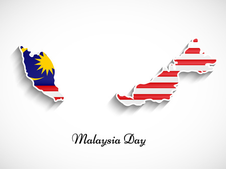 Illustration pour illustration of elements of Malaysia Day Background - image libre de droit