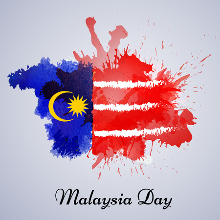 Illustration pour illustration of elements of Malaysia Independence Day background - image libre de droit