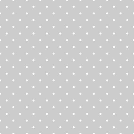 Illustration pour Seamless vector white and grey pattern or tile background with polka dots - image libre de droit