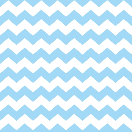 Illustration for Chevron tile vector pattern with pastel blue and white zig zag background - Royalty Free Image