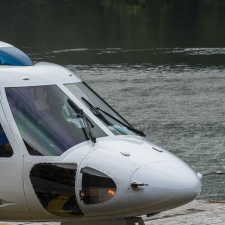 Foto de Front of a Sikorsky helicopter, Skeena-Queen Charlotte Regional District, Haida Gwaii, Graham Island, British Columbia, Canada - Imagen libre de derechos