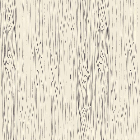Illustration pour Seamless wood grain pattern. Wooden texture light beige and gray vector background. - image libre de droit