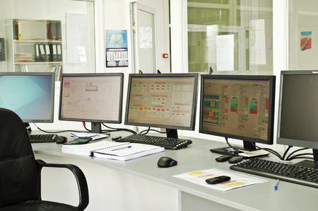 Foto de Control center of a small power plant - Imagen libre de derechos