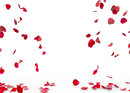 Photo for Rose petals fall to the floor. Isolated background - Royalty Free Image