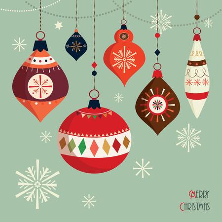 Illustration pour Christmas balls  card - image libre de droit