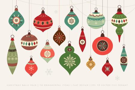 Ilustración de Christmas card with Christmas balls - Imagen libre de derechos
