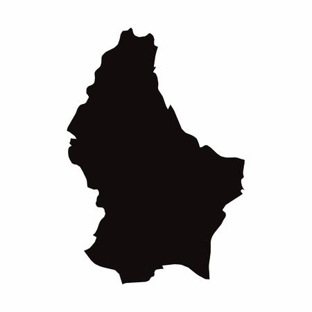 Illustration pour Luxembourg vector country map - image libre de droit