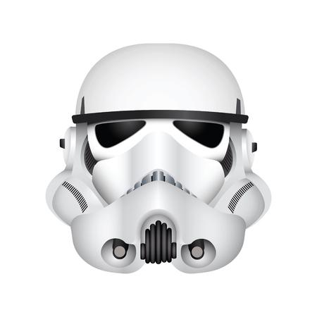 Foto de LONDON, UK - December 27th 2017: Illustration of a Stormtrooper character from the Star Wars film franchise - Imagen libre de derechos