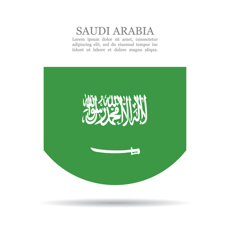 Illustration pour Saudi Arabia national flag vector icon - image libre de droit