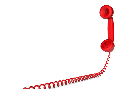 Photo for Retro telephone handset receiver 3D rendering - Royalty Free Image
