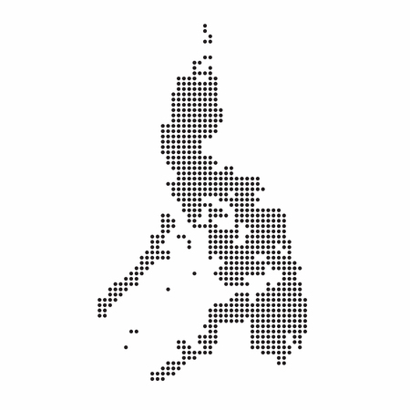 Illustration pour Philippines country map made from abstract halftone dot pattern. - image libre de droit