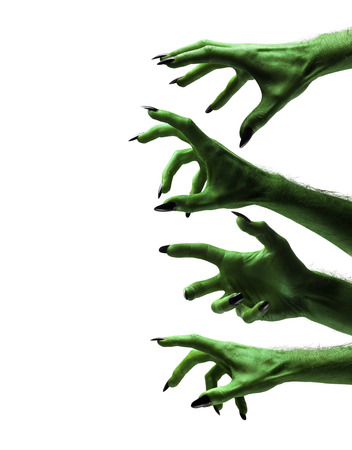 Photo for Halloween green witches or zombie monster hands - Royalty Free Image