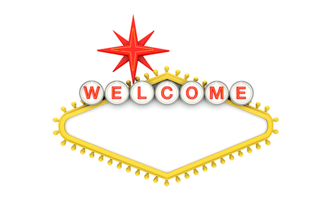 Photo for Welcome to Las Vegas classic sign with copy space. 3D Rendering - Royalty Free Image