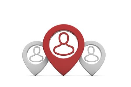 Photo pour Human resource and team leadership concept. 3D Rendering - image libre de droit
