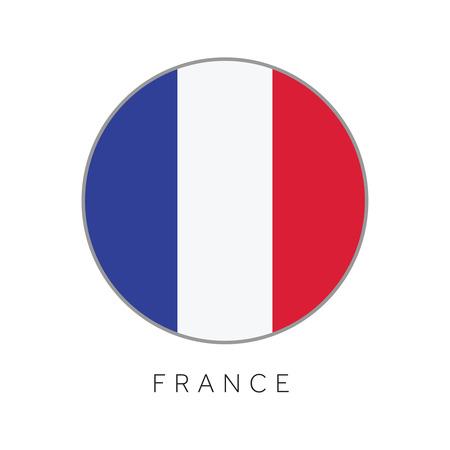 Illustration pour France flag round circle vector icon - image libre de droit