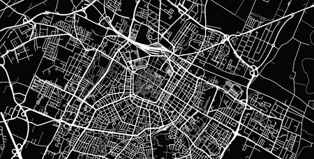 Illustration pour Urban vector city map of Modena, Italy - image libre de droit