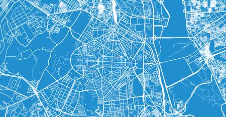 Illustration pour Urban vector city map of New Delhi, India - image libre de droit
