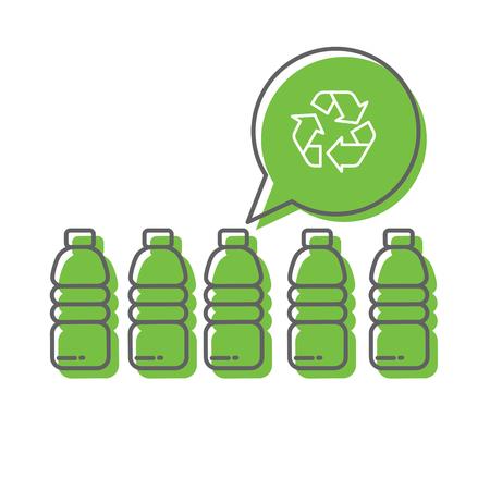 Ilustración de Recycle plastic bottles - Imagen libre de derechos