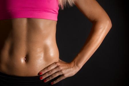 Photo pour female abdominal muscles - image libre de droit